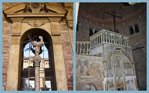 Gallo de San Pedro y tumba de San Petronio. Bolonia