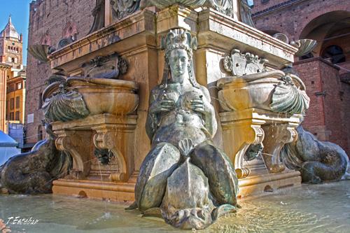 Detalle de la Fuente de Neptuno. Bolonia