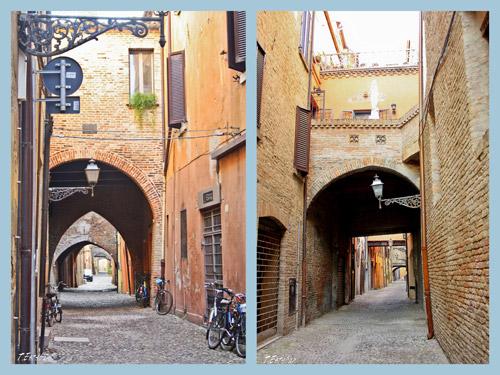Calles peatonales en Ferrara