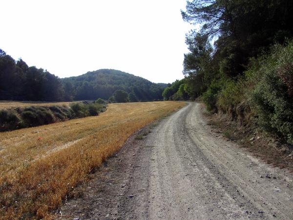 Camino por Val de Cantales sentido a la muga Castejón - Zuera