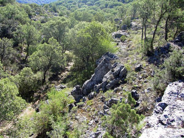 El camino del GR10 desde una roca