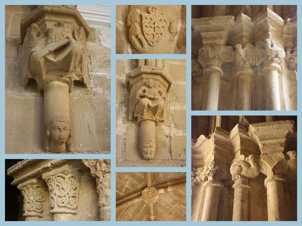 Capiteles y claves del Monasterio de Rueda