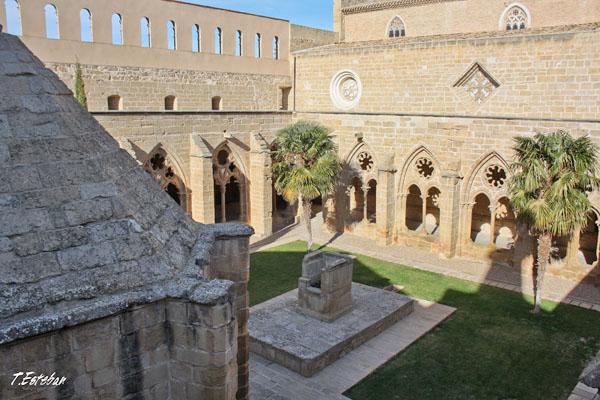 Claustro del Monasterio de Rueda desde la terraza