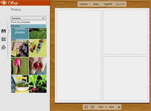 collage con picmonkey, seleccionar imágenes del ordenador