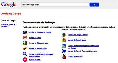 Servicio de ayuda de Google