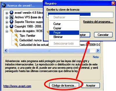 Seriales para Avast 4.8 y 5.0 (Codigos)