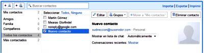 Editar los datos de un contacto en Gmail