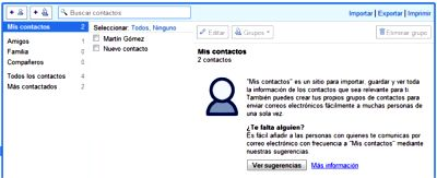 Contactos de Gmail