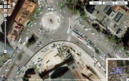 Plaza de Atocha con Google Maps