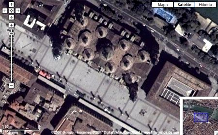 Plaza del Pilar con Google Map