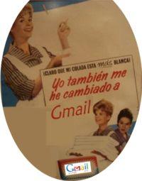 Anuncio gmail simulando detergente