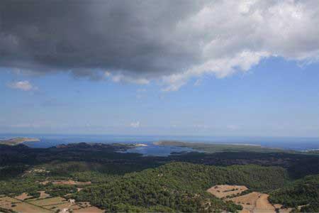 Vista de Menorca desde el Monte Toro