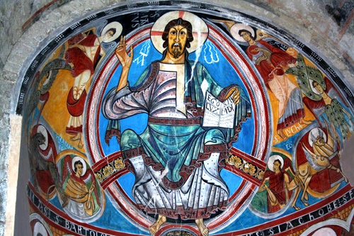 Pintura de la iglesia Sant Climent de Taull