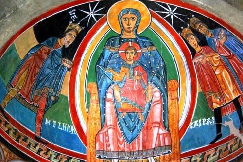 Pintura de la iglesia Santa María de Taull