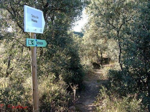 Sendero a las Tetas de Viana y señales indicativas