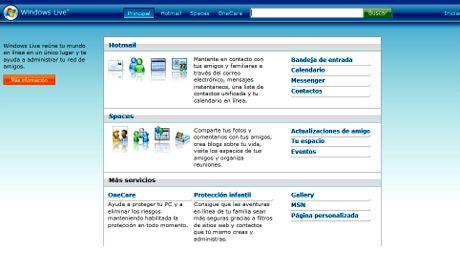 Todos los servicios de Windows Live