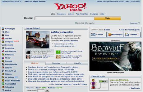 Todos los servicios de Yahoo