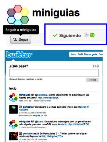Seguir a un usuario de Twitter