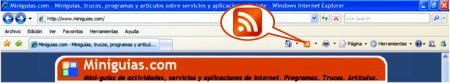 rss en internet explorer