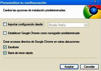 Personalización de la Instalación de Chrome