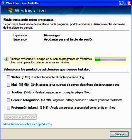 Instalación de Windows Live Messenger