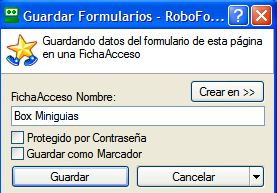 Guardar ficha con RoboForm