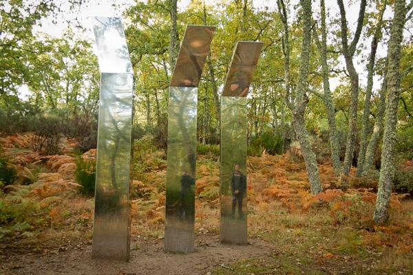"""Escultura """"Del espejismo de un bosque"""". Camino de las raíces"""