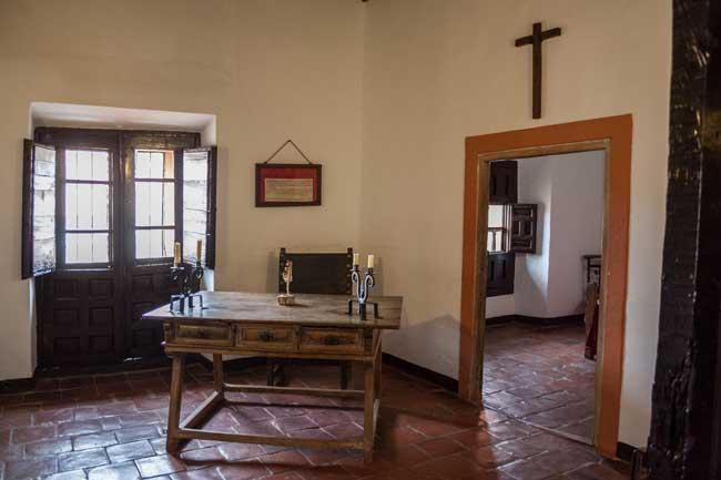 Villanueva de los Infantes. Convento de Santo Domingo. Habitación Francisco Quevedo