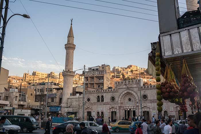 Mezquita de Amán en el centro urbano