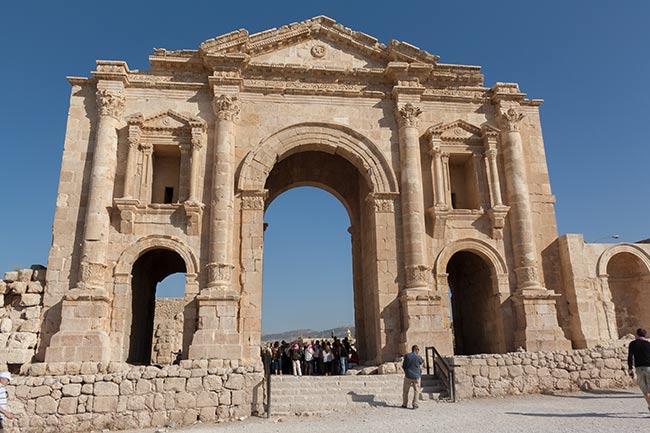 Arco de Adriano en Jerash. Jordania