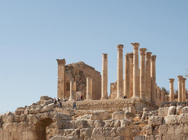 Templo de Zeus en Jerash. Jordania