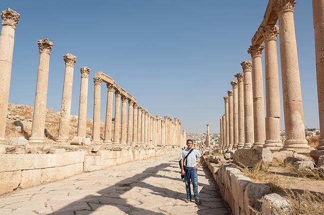 Cardo maximus de Jerash. Jordania