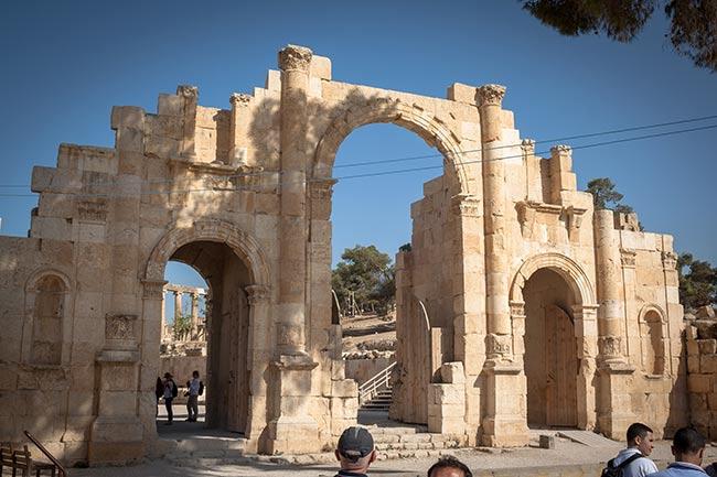 Puerta Sur de Jerash. Jordania