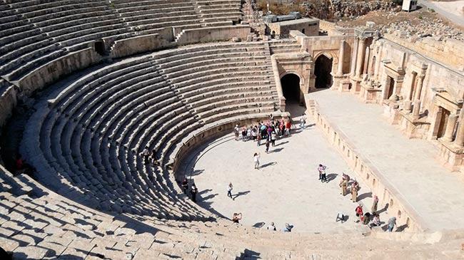 Gradas del teatro sur de Jerash