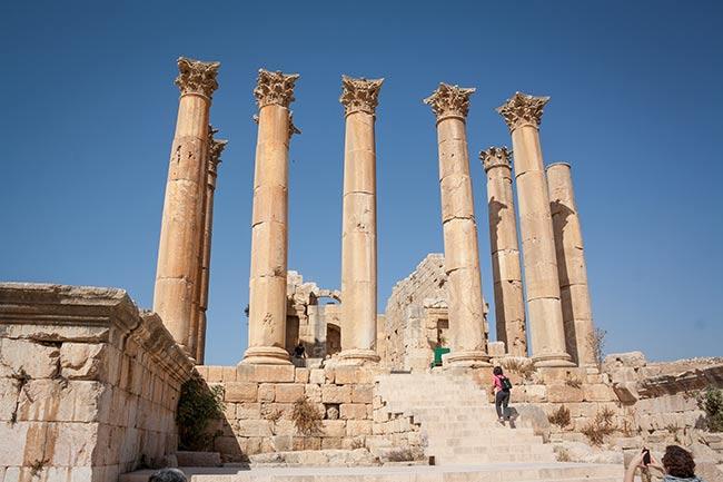 Templo de Artemisa en Jerash. Jordania