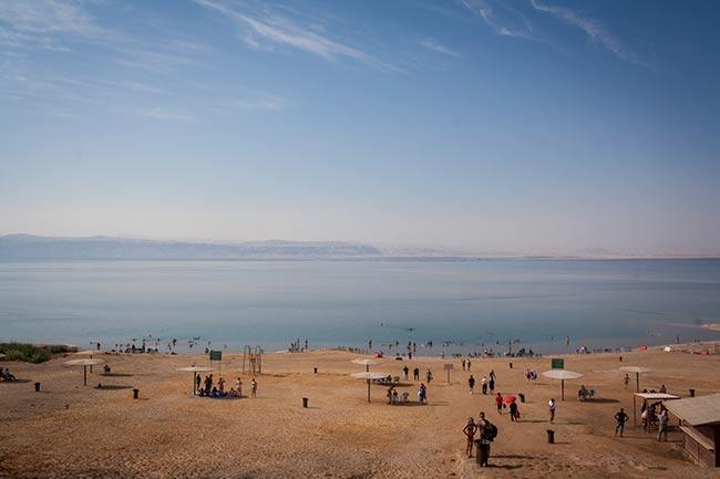 Playa en el mar Muerto