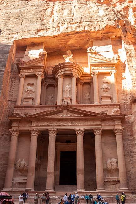 Petra. El Tesoro. Templo o tumba real.