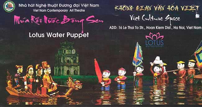 Hanoi. Billete de entrada al teatro de marionetas de agua.