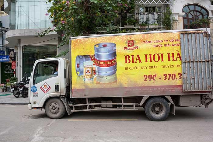 hanoi camion cerveza
