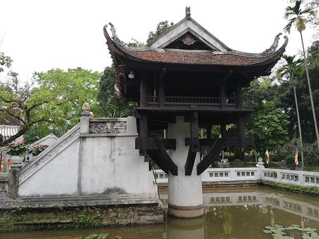 Pagoda de un solo pilar. Símbolo de Hanoi
