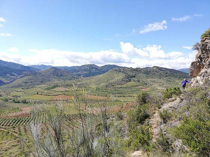 Sendero de descenso de la ruta botánica en Alpartir
