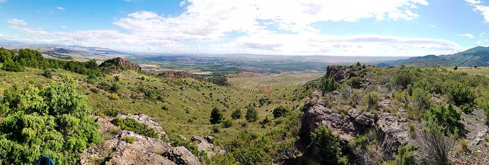 Panorámica desde el pico de San Cristobal vertiente norte.