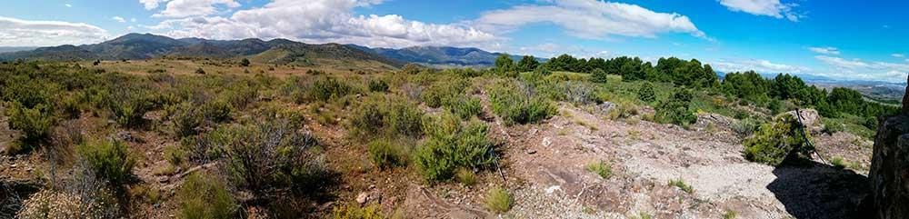 Panorámica desde el pico San Cristobal vertiente sur.