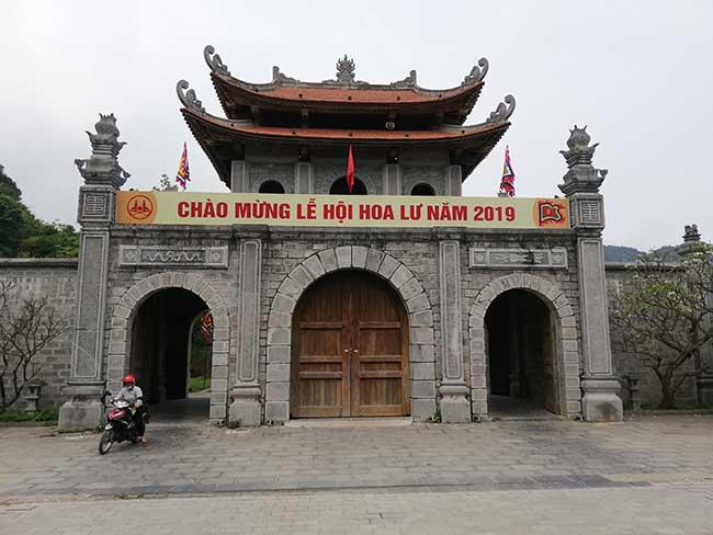 Puerta de entrada a la ciudadela Hoa Lu