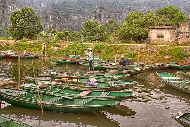 Embarcadero de Tam Coc. Vietnam