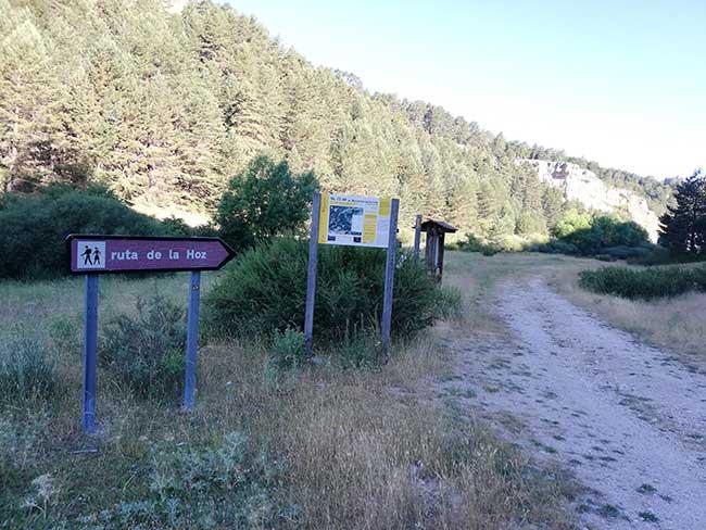 Barranco de la Hoz. Inicio desde Frías de Albarracín.